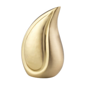 Golden Teardrop Ashes Urn