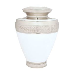 Marble White Ashes Urn Large