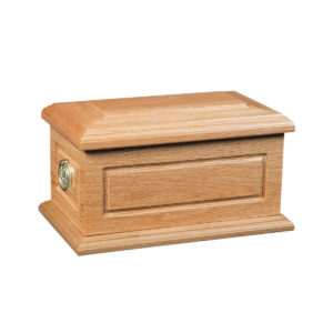 Compton Solid Oak Ashes Urn Casket